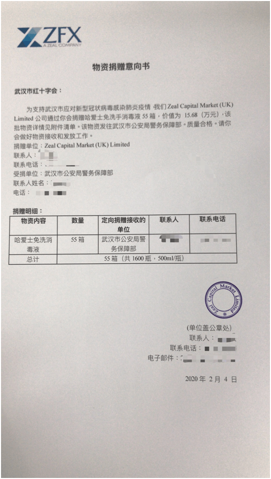 Stand with Wuhan: ZFX's Aid for COVID-19